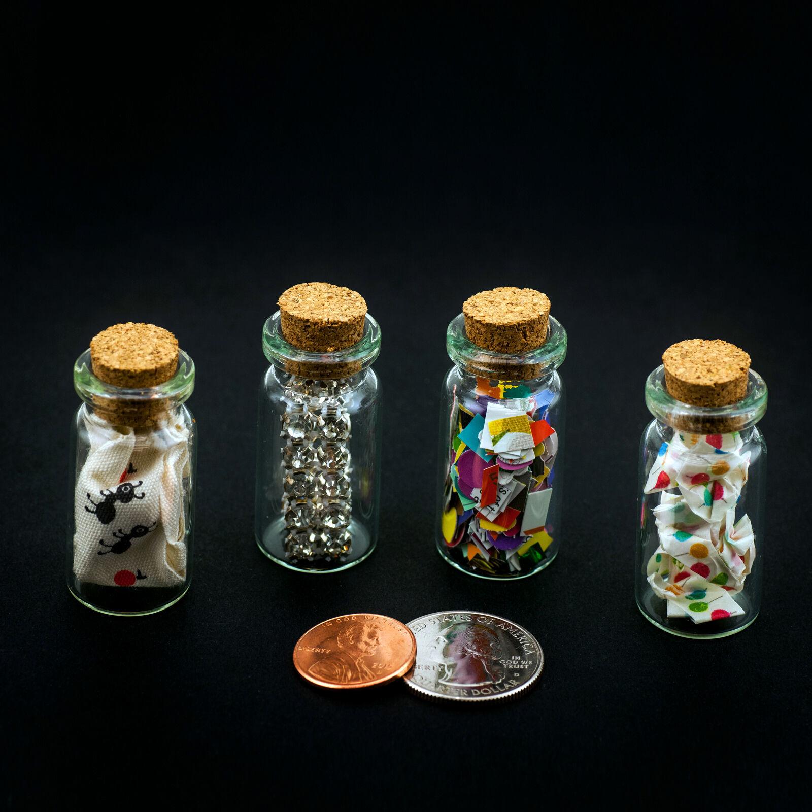 24pk Mini Glass Cork Bottles Mini Vials Jar Wedding Favors Potion Bottles LOT