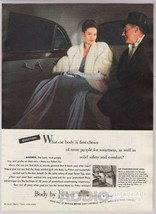 1948 Body by Fisher General Motors Cars Automotive Rich Couple Print Ad ... - $8.79