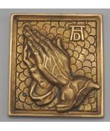 Vintage Wall Hanging Brass Praying Hands - $23.75
