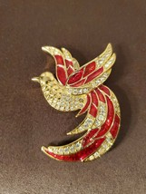 VINTAGE GIORGIO FIRE BIRD OF PARADISE PIN BROOCH - $19.95