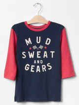 Gap Kids Boy Tee Shirt 8 10 12 Navy Red Colorblock Short Sleeve Crew Nec... - $14.95