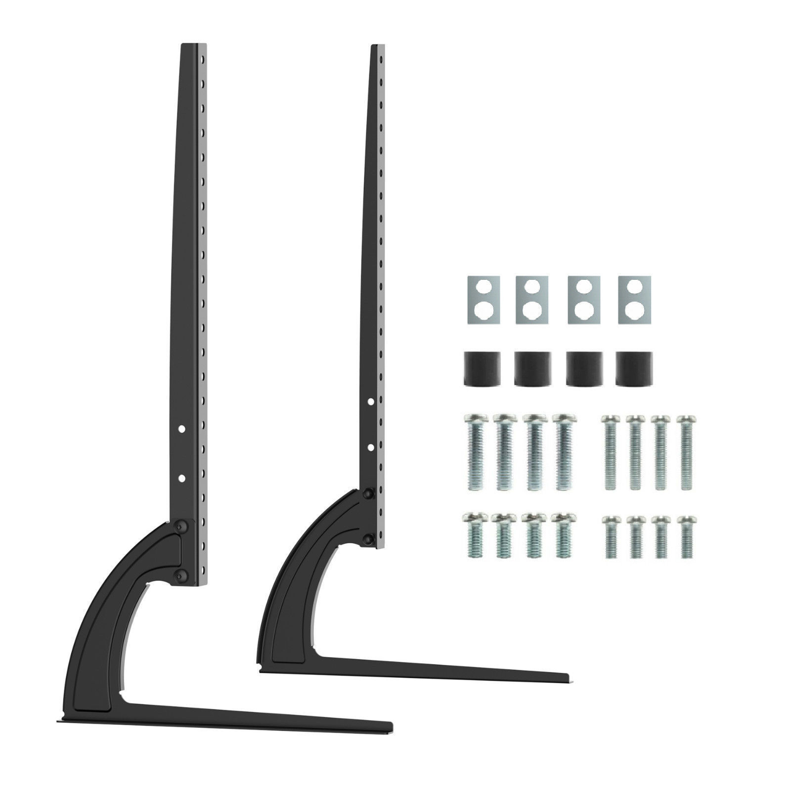 Universal Table Top TV Stand Legs for Vizio E421VO Height Adjustable