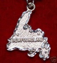 Nice Newfoundland Map Canada Sterling Silver Pendant Charm - $16.28