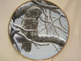 SNOWY WATCH collector plate GREAT GREY OWL Seerey-Lester NOBLE OWLS Grea... - $29.99