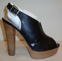 Steve Madden Size 9.5 M GIIGI Black Leather Platform Sandals New Womens ... - $127.71