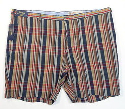 Polo Ralph Lauren Classic Fit India Madras Plaid Flat Front Shorts Men's NWT - $89.99