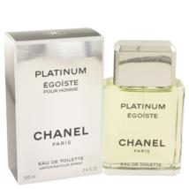 Chanel Egoiste Platinum Cologne 3.4 Oz Eau De Toilette Spray  image 1