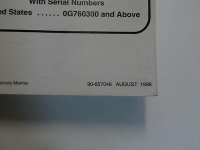 1998 Mercury Mariner Outboards 30 40 4 Stroke Service Repair Manual 90-857046 image 4