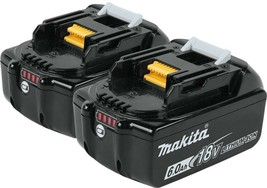 Makita Power Tool Battery 6.0 Ah 18-Volt Lithium-Ion Impact-Resistant (2-Pack) - $313.95