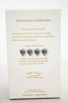 Hallmark: Anniversary Celebration - No CHARMS - Porcelain - NO DATE ON BELL image 9