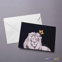 """""""Lion of Judah"""" Animal Black & White Blank Greeting Cards - $2.99"""