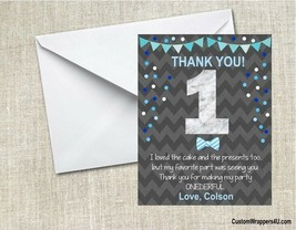 1st First Birthday Party Thank You Note Cards Personalized Custom - $0.99+