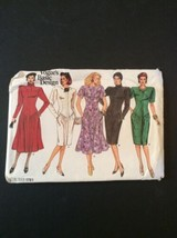 Vogue Sewing Pattern 1761 8 10 12 Dress Uncut 5 Style Knee Length Short ... - $10.91