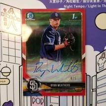 MLB card RyanWeathers 2018 Bowman Chrome Draft RedWave 5 limited edition - $388.08