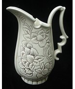 """Old Red Wing Art Pottery Eggshell Ivory  8 1/2"""" Pitcher Ewer - $17.50"""