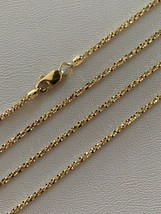 Solid 14k Yellow Gold Ladies 1.5mm Sparkle Rope Chain Twist Necklace Dia... - $84.14+