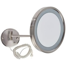 Jerdon HL1016NL 9.5-Inch LED Lighted Wall Mount Makeup Mirror with 5x Ma... - $84.99