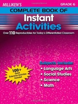 Milliken's Complete Book of Instant Activities - Grade 6 Deborah Kopka - $9.75