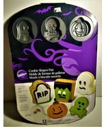 Halloween Non-Stick Cookie Shapes Pan Wilton NEW 12 Cavities - $13.00