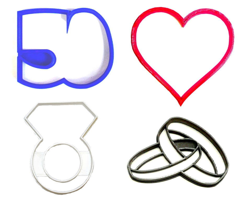Primary image for 50th 50 Year Wedding Anniversary Vow Renewal Set Of 4 Cookie Cutters USA PR1352