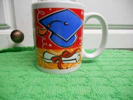 Graduation Cup Mug Hat Diploma Cap tassel Grad - $13.95