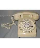 Desktop Rotary Phone White In Color Hard Wired - $100.00