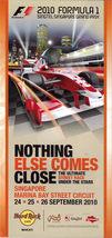 2010 FORMULA 1 Singtel Singapore Grand Prix Brochure - $2.95