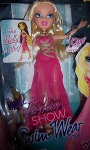 Bratz Cloe Fashion Show Swim Wear Doll Really Walks Swim Suit Cover Up NEW MGA