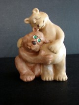 Signed Handcrafted Pregnant Bear Couple by CAST ART  1993 - $9.89