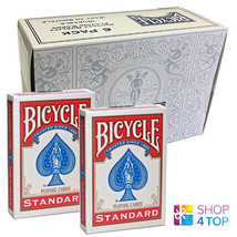 6 DECKS BICYCLE RIDER BOX CASE RED DOUBLE BACK NO FACE MAGIC TRICKS CARD... - $34.64