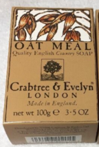 Crabtree & Evelyn OatMeal Soap 3.5 oz 100 g Made in England - $12.99