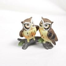 Small Ceramic Owls Figurine Decor Piece Lefton - $14.00
