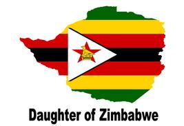 Daughter of Zimbabwe Zimbabwean Country Map Flag Poster High Quality  - $6.90+