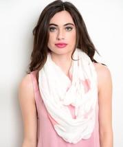 Women's Knit Cowl & Infinity Scarves - White Orange Stars (J0159447) - $9.99