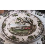 2 Johnson Brothers Friendly Village Serving Platter Harvest Time 13x11 I... - $49.45