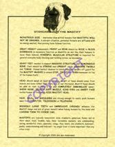 Mastiff Standard - $20.50