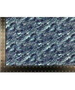 Ocean Sea Waves Blue 100% Cotton High Quality Fabric Material 3 Sizes - $7.20+
