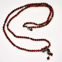 Silver Necklace 925 with Snake Burnished and Jasper Made in Italy by Maschia image 3