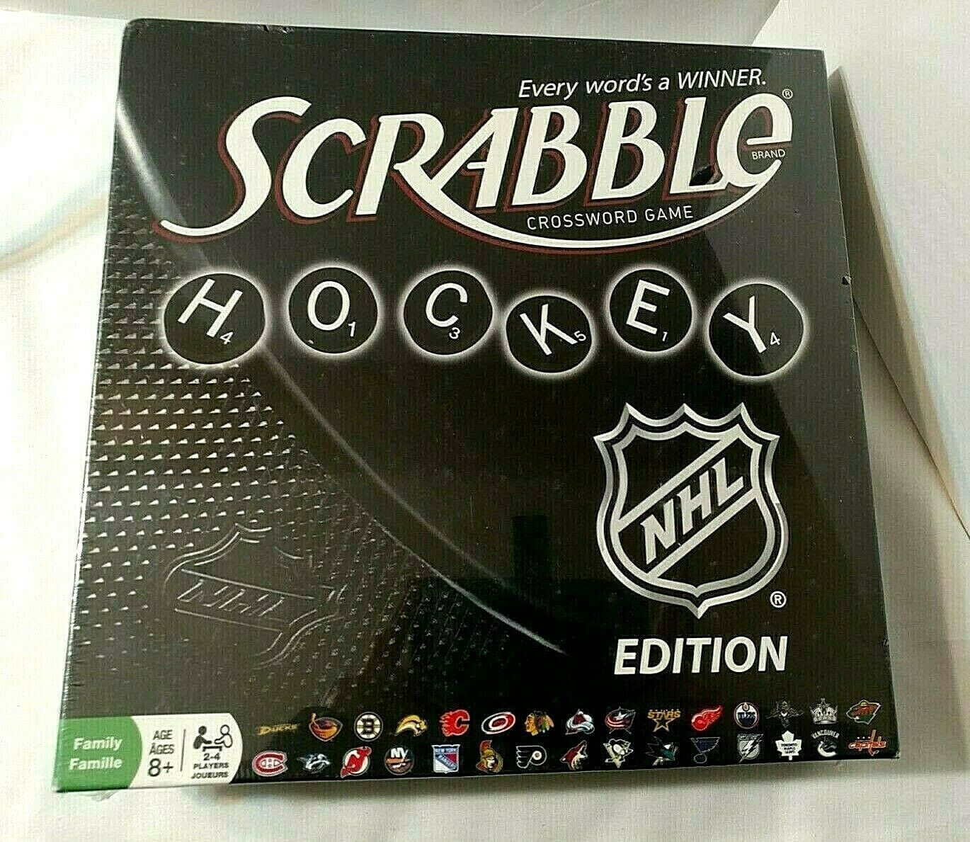 Primary image for NHL Hockey Edition Scrabble Crossword Game NEW SEALED Incl Bonus NHL Dictionary