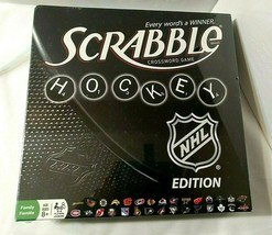 NHL Hockey Edition Scrabble Crossword Game NEW SEALED Incl Bonus NHL Dic... - $39.55
