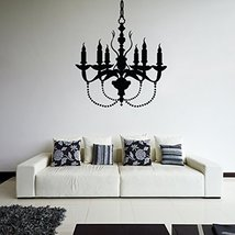 ( 28'' x 24'') Vinyl Wall Decal Chandelier / Lamp with Candles Art Decor Sticker - $27.43