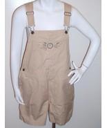 Cherokee Bib Overalls Shorts Khaki Beige Size S... - $15.99