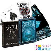 2 DECKS BICYCLE 1 GUARDIANS AND 1 ICE PLAYING CARDS DECK MADE IN USA NEW - $14.87