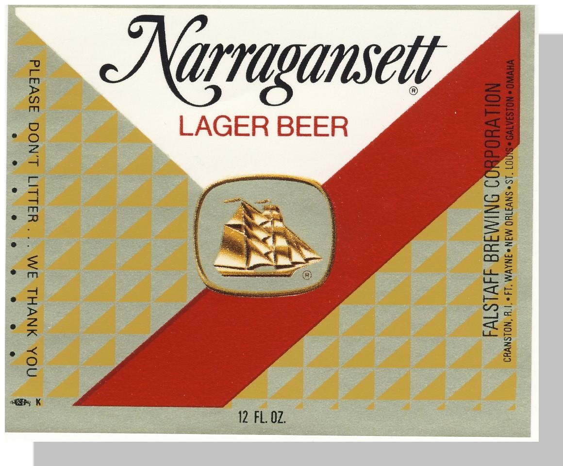 Narragansett beer label