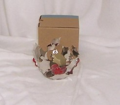 PartyLite Modern Holly Tealight Holder Silver Metal with Red Berries P91363 - $5.95