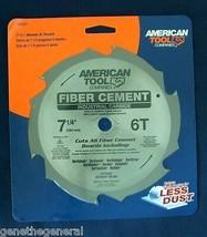 "American Tool 7 1/4"" X 6 Industrial Carbide Teeth Fiber Cement Saw Blade Hardi - $18.40"