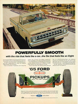 Vintage 1965 Magazine Ad Ford Pickups Powerfully Smooth Twin I Beam & Se... - $5.93