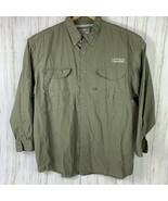 Magellan Outdoors Mens Size 2XL Vented 4 Pocket Shirt Olive Green - $15.35