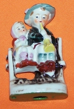 Vintage  Figure  Girl And Boy Plays Flute - $20.00