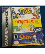 Mouse Trap Operation Simon 3 Games in 1 Pack Nintendo Game Boy Advance S... - $29.69